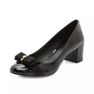 Tory Burch Trudy Patent Leather Bow Pumps Heels